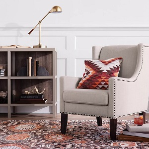 Jackson-Wingback-Chair 100+ Coastal Accent Chairs and Beach Accent Chairs