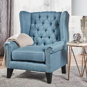 Laird-Traditional-Winged-Accent-Chair-Christopher-Knight-Home 100+ Coastal Accent Chairs and Beach Accent Chairs