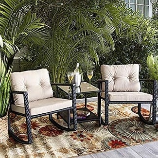wicker-rocking-chairs Beach Decor and Coastal Decor