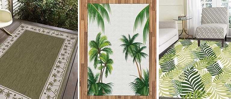 Area Rugs And Palm Tree Runners