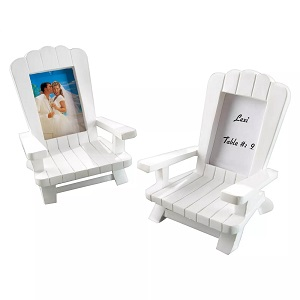 12ct-Kate-Aspen-Beach-Memories-Miniature-Adirondack-Chair-Place Beach Wedding Decorations & Coastal Wedding Decor