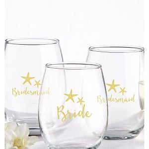 4ct-Kate-Aspen-Bride-And-Bridesmaids-Beach-Tides-wine-glasses 100+ Beach Wedding Decorations and Ideas