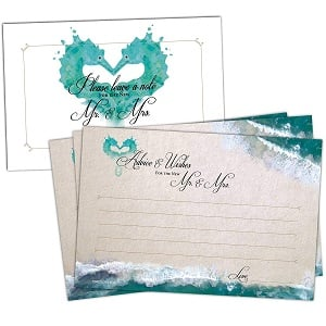 50-Beach-Wedding-Advice-Cards 100+ Beach Wedding Decorations and Ideas