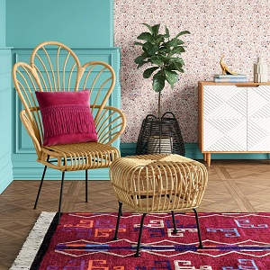 Avocet-Rattan-Fan-Back-Accent-Chair-Opalhouse 100+ Coastal Accent Chairs and Beach Accent Chairs