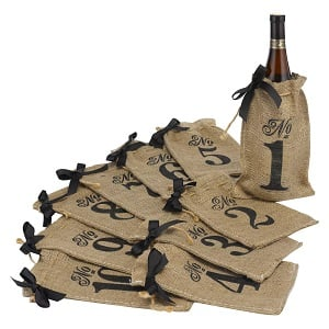 Burlap-Bag-Wedding-Table-Numbers Beach Wedding Decorations & Coastal Wedding Decor