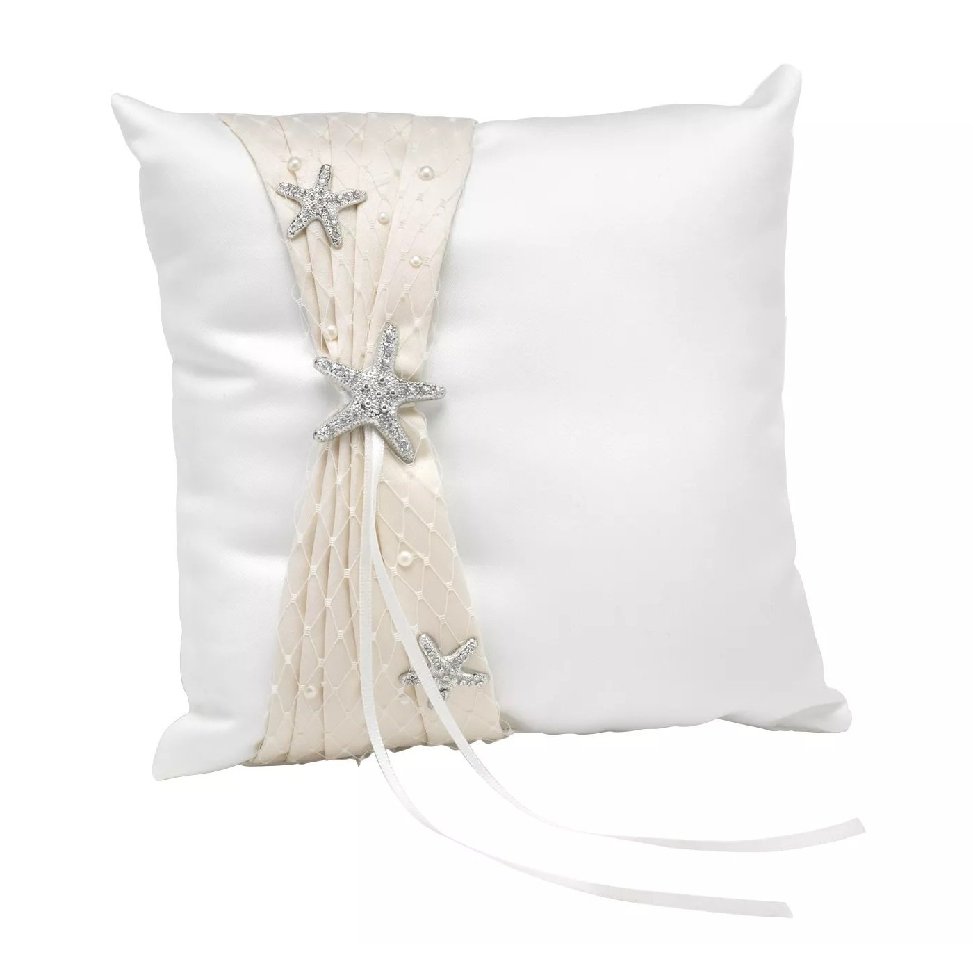 Destination-Romance-Wedding-Collection-Ring-Bearer-Pillow 100+ Beach Wedding Decorations and Ideas