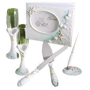 Finishing-Touches-Collection-of-beach-themed-wedding-day-accessories 100+ Beach Wedding Decorations and Ideas