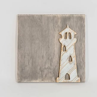 Lighthouse-Wood-Wall-D%C3%A9cor Nautical Wooden Signs & Nautical Wood Wall Decor