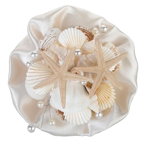 Lillian-Rose-6-Coastal-Seashell-Bouquet 100+ Beach Wedding Decorations and Ideas