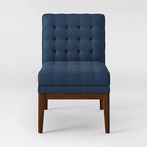 Newark-Tufted-Slipper-Chair-with-Wood-Base-Navy-Project-62 100+ Coastal Accent Chairs and Beach Accent Chairs