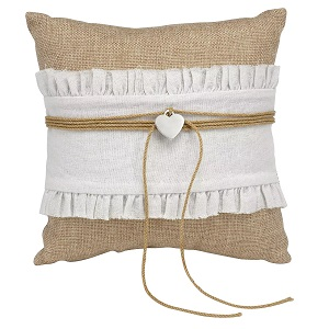 Rustic-Romance-Wedding-Collection-Ring-Bearer-Pillow 100+ Beach Wedding Decorations and Ideas