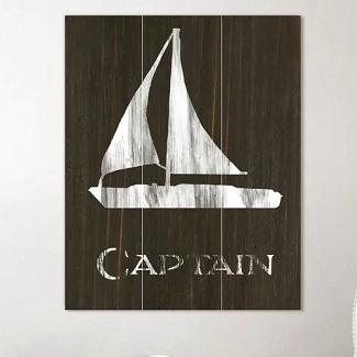Sailboat-Wood-Wall-Art Nautical Wooden Signs & Nautical Wood Wall Decor