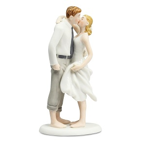 Wedding-Collectibles-Beach-Get-Away-Wedding-Cake-Topper 100+ Beach Wedding Decorations and Ideas