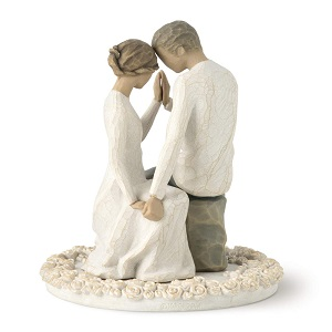 Willow-Tree-Around-You-sculpted-hand-painted-cake-topper 100+ Beach Wedding Decorations and Ideas