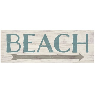 beach-arrow-wood-sign-plank Wooden Beach Signs & Coastal Wood Signs