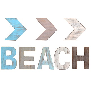 beach-arrow-wooden-sign Wooden Beach Signs & Coastal Wood Signs
