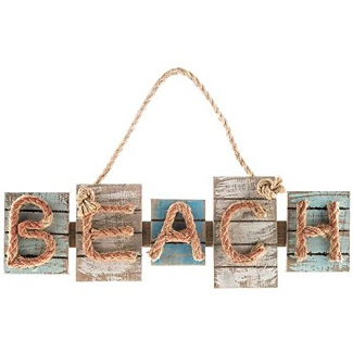 beach-wood-plaque-wood-signs-rope Wooden Beach Signs & Coastal Wood Signs