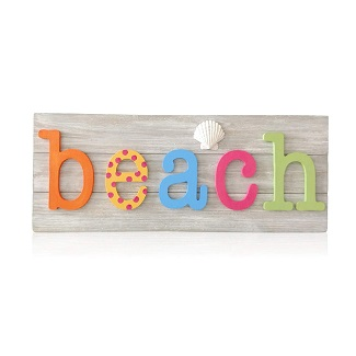 colorful-wooden-beach-sign-decor-1 Wooden Beach Signs & Coastal Wood Signs