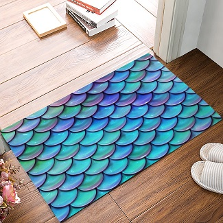 geometric-mermaid-area-rug 50+ Mermaid Themed Area Rugs