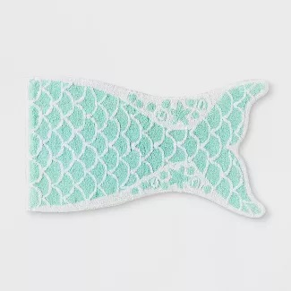 mermaid-tail-bath-rug 50+ Mermaid Themed Area Rugs
