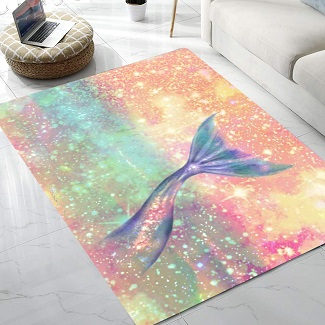 mermaid-tail-rug 50+ Mermaid Themed Area Rugs
