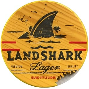 round-landshark-wood-sign Wooden Beach Signs & Coastal Wood Signs