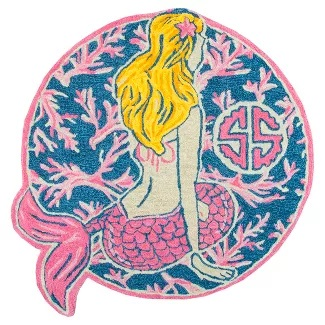round-mermaid-rug 50+ Mermaid Themed Area Rugs