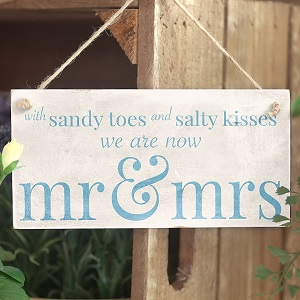 sandy-toes-salty-kisses-sign 100+ Beach Wedding Decorations and Ideas