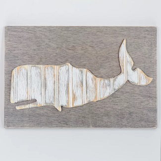 whale-wood-wall-decor Nautical Wooden Signs & Nautical Wood Wall Decor