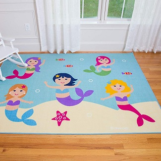 wildkin-kids-mermaid-area-rug 50+ Mermaid Themed Area Rugs