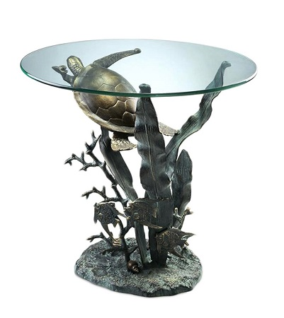 SPI-Home-Sea-Turtle-Table 100+ Coastal End Tables and Beach End Tables