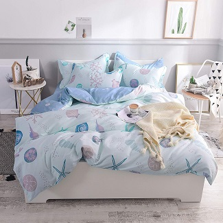 coastal-seashell-duvet-cover-set Nautical Bedding Sets & Nautical Bedspreads