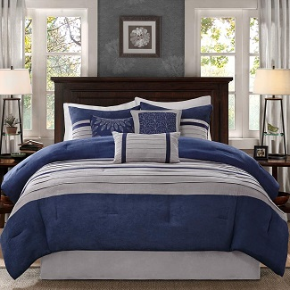 madison-park-palmer-navy-blue-comforter-set Nautical Bedding Sets & Nautical Bedspreads