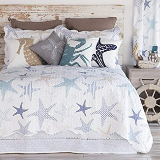 starfish-nautical-quilt-set Nautical Bedding Sets & Nautical Bedspreads