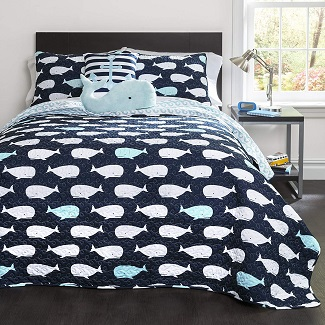 whale-kids-reversible-nautical-quilt Nautical Bedding Sets & Nautical Bedspreads