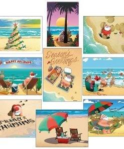 Beach Christmas Cards and Coastal Christmas Cards