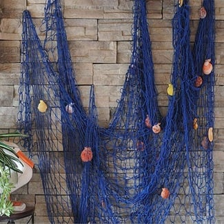 fish-net-decor Nautical Home Decor