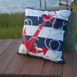 nautical-throw-pillows Nautical Home Decor
