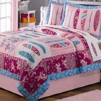 pink-surf-quilt Surf Bedding Sets & Surf Comforter Sets
