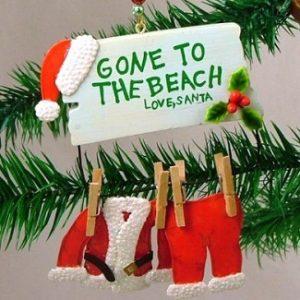Santa Beach Ornaments