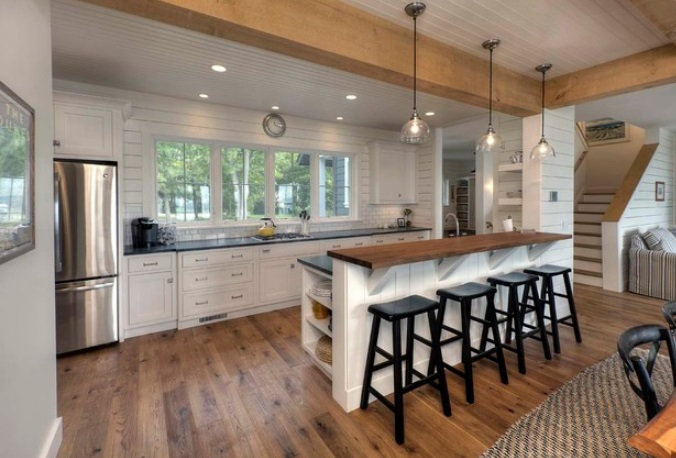 Classic-White-Cottage-by-Kitchen-Choreography 65 Beach Themed Kitchen Ideas