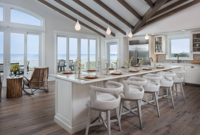 Great-Room-Island-by-Francie-Milano-Kitchens-inc. 65 Beach Themed Kitchen Ideas