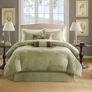 Madison-Park-Freeport-Queen-Size-Bed-Comforter-Set-Bed-in-A-Bag Palm Tree Bedding Sets & Comforters & Quilts