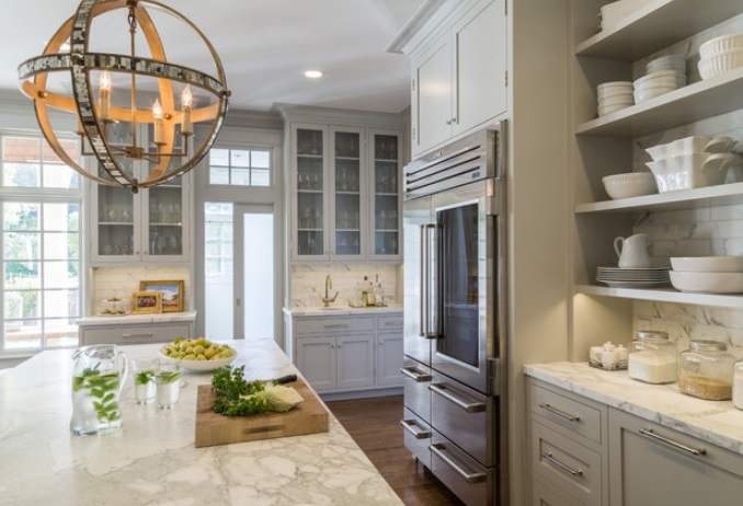Open-Plan-Traditional-Modern-Living-For-Todays-Family-by-Heydt-Designs 65 Beach Themed Kitchen Ideas