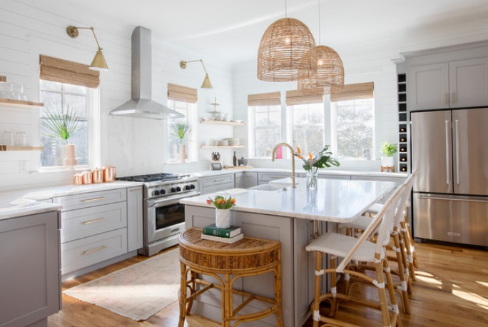 Pretty-Tropical-Touches-in-South-Carolina-by-Margaret-Wright-Photography 65 Beach Themed Kitchen Ideas