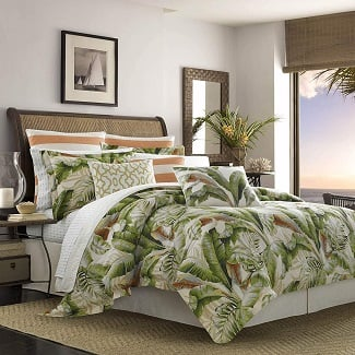 Tommy-Bahama-Palmiers-Comforter-Set-Queen-Medium-Green Palm Tree Bedding Sets, Comforters, Quilts & Duvet Covers