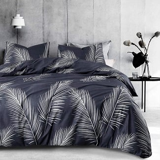 Wake-In-Cloud-Leaves-Comforter-Set Palm Tree Bedding Sets, Comforters, Quilts & Duvet Covers