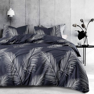 Wake-In-Cloud-Leaves-Comforter-Set Palm Tree Bedding Sets & Comforters & Quilts