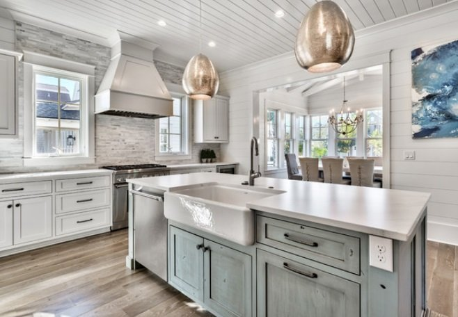 Watersound-by-Design-and-Dwell-Homes-LLC 65 Beach Themed Kitchen Ideas