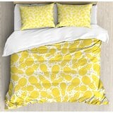 cute-african-pineapple-fruit-pattern-with-dots-and-little-circles-duvet-cover-set 50+ Pineapple Bedding Sets, Quilts, and Duvet Covers